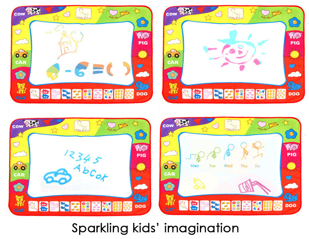 Doodle Drawing Mat Pen - Children Water Drawing Aqua Mat Board & Magic Pen Doodle Kids Educational Toy Gift