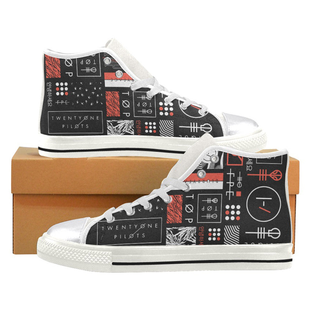 Twenty One Pilots Merchandise Logos - Sneakers