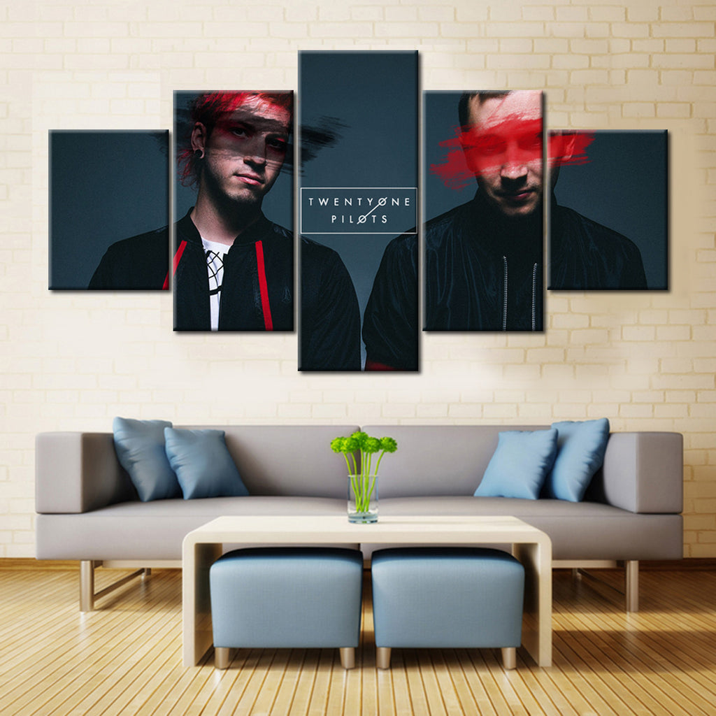 Twenty One Pilots Tyler & Josh - 5 Pieces Canvas