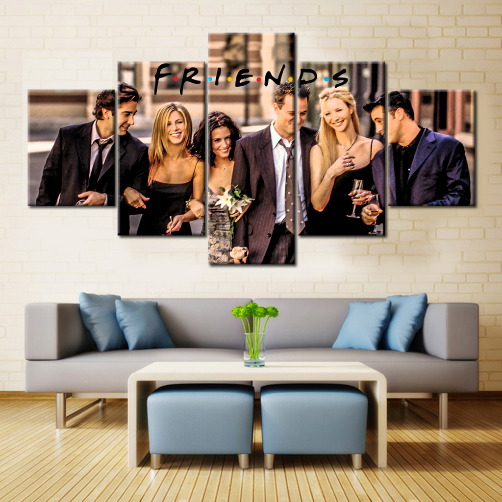 Friends - 5 Pieces Canvas Wall Decors