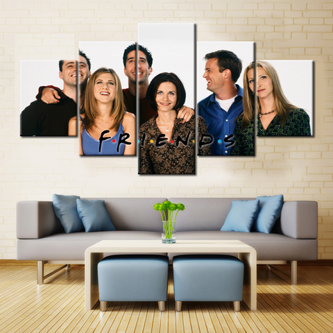 Friends Laughing - 5 Pieces Canvas
