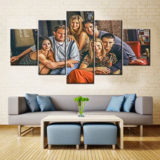 Friends - 5 Pieces Canvas