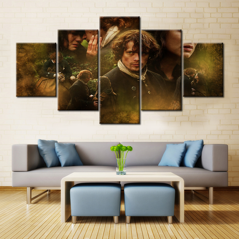 Outlander Jamie and Claire - 5 Pieces Canvas