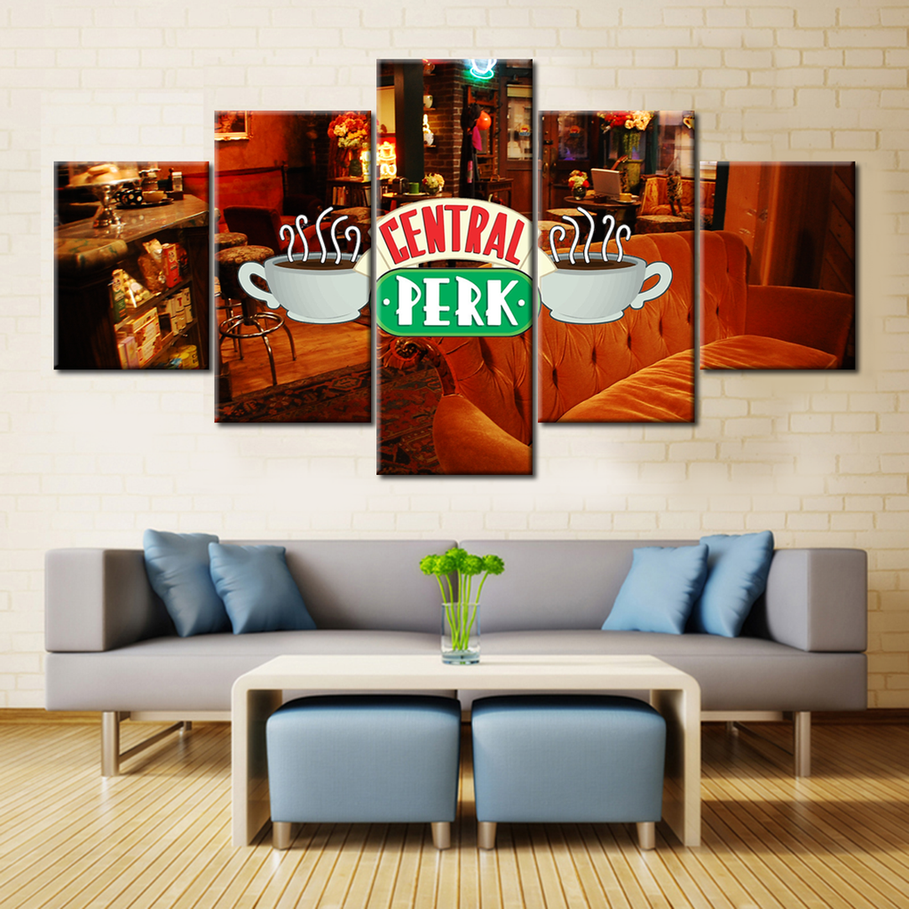 Friends First Season - 5 Pieces Canvas