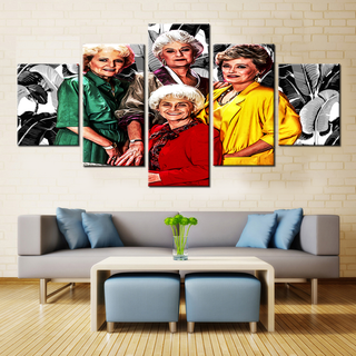 The Golden Girls - 5 Pieces Canvas