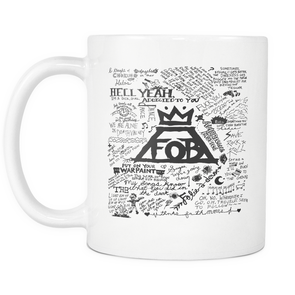 Fall Out Boy Mug, Band Merch, Fall Out Boy Shoes, Pete Wentz, Patrick Stump, Andy Hurley, Save Rock And Roll, Panic At The Disco
