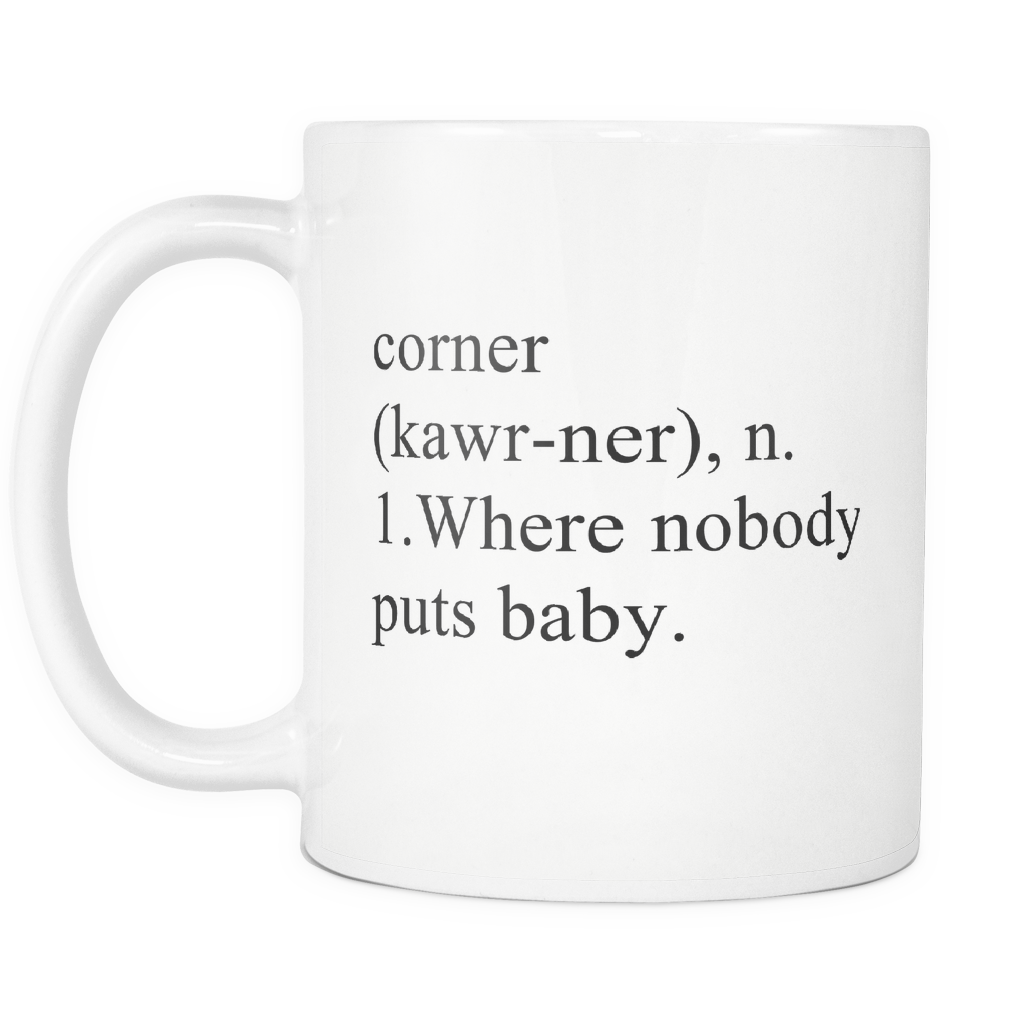 Dirty Dancing Mug, Nobody Puts Baby, Carried A Watermelon, Jennifer Grey, Patrick Swayze, Dirty Dancing Art