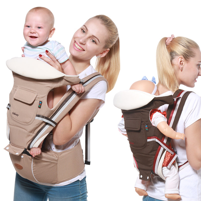 Baby Carrier 9 in 1 Ergonomic Carrier Backpack & Hipseat for Newborn All Carry Positions