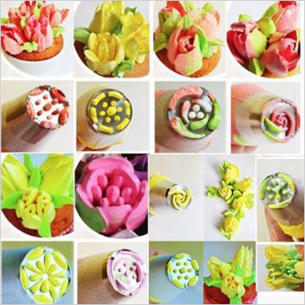 24 Pcs - Russian Flower Icing Piping Nozzles