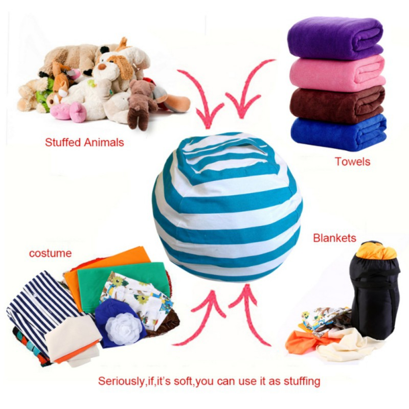 Stuffed Animal Storage Bean Bag Chair Organizer