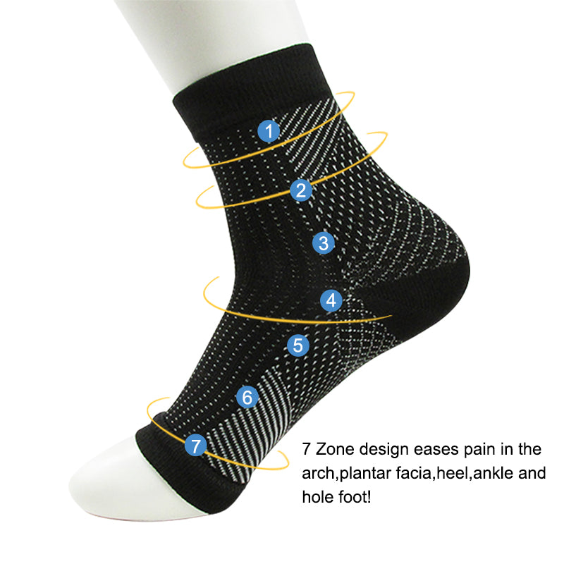 Plantar Fasciitis Socks - Compression Foot Sleeves for Men & Women - Arch Support