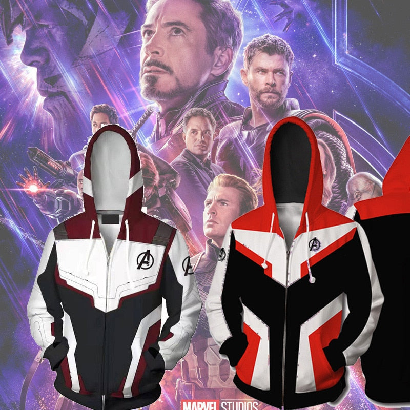 The Avengers Endgame 3D Printed Hoodie Sweatshirt Hooded Zipper