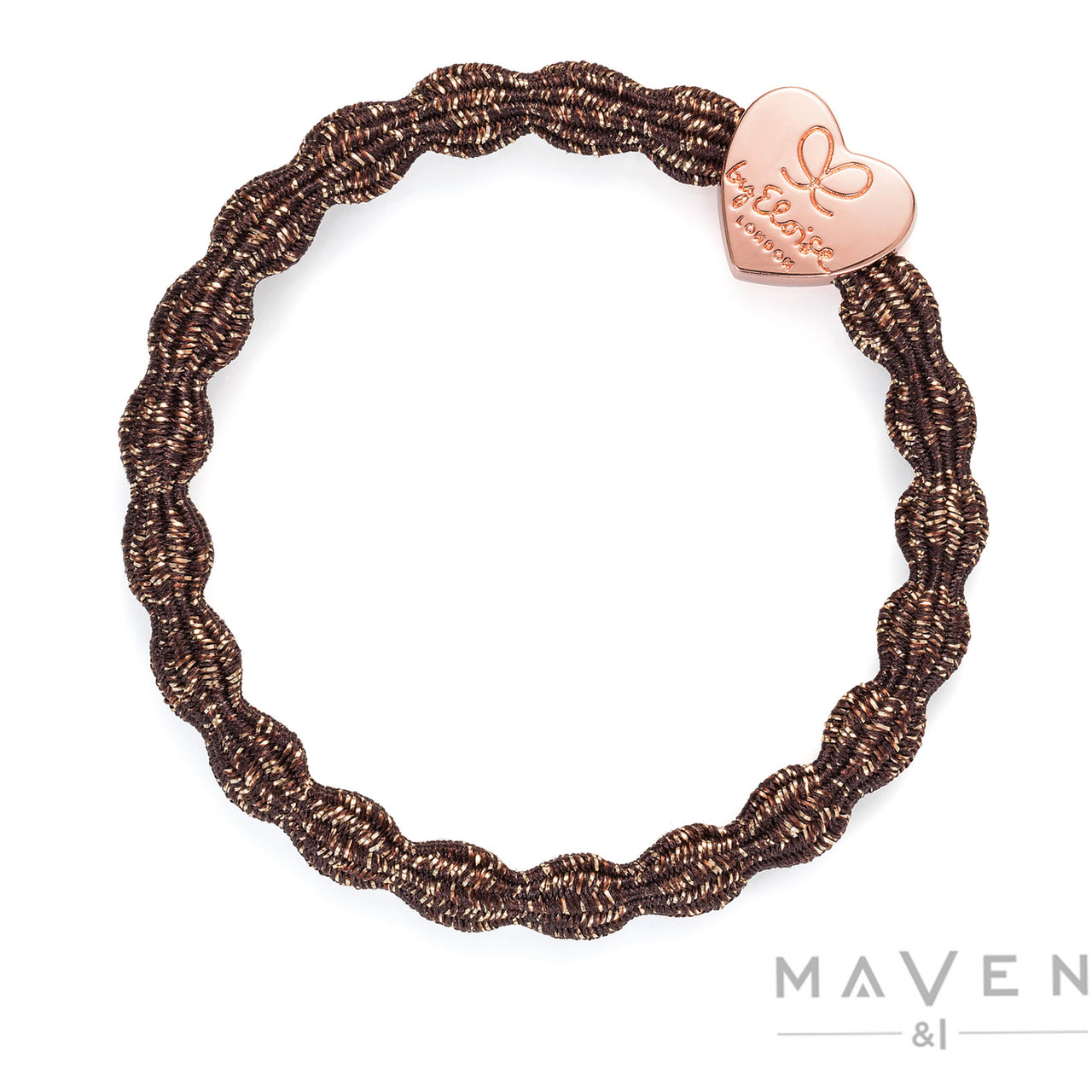 Metallic Rose Gold Heart | Bronze Bangle Band