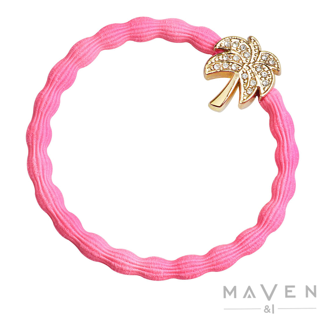 Palm Tree | Neon Pink Bangle Band
