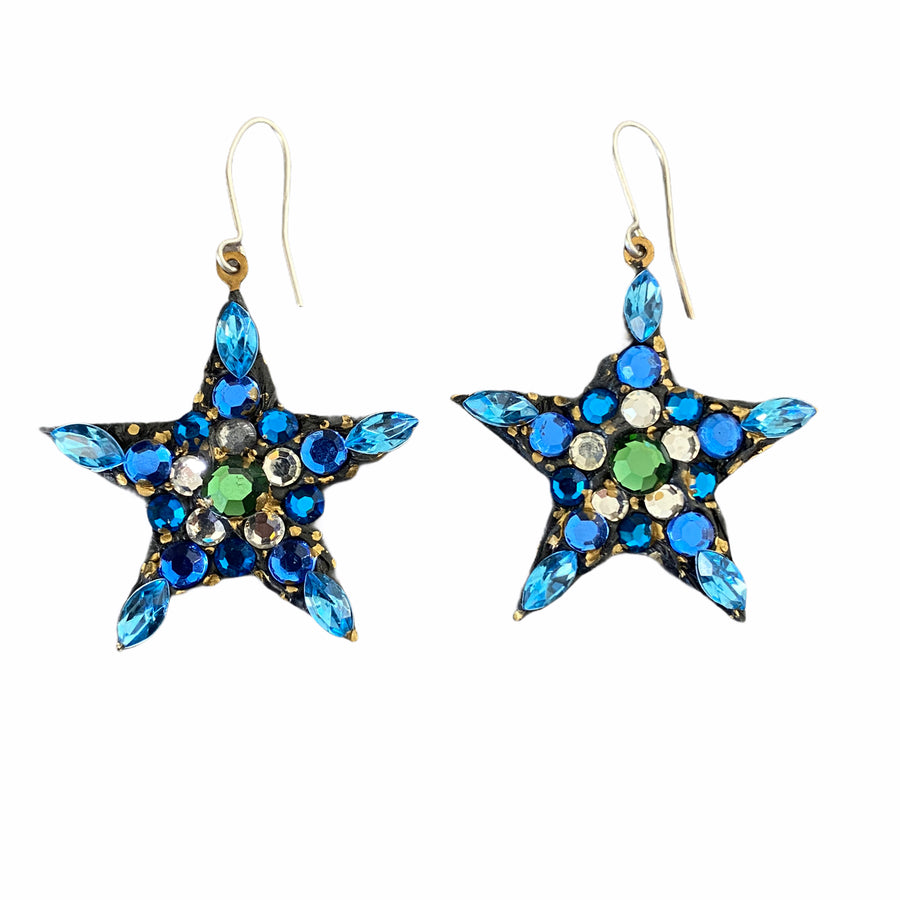 Star Vintage Stone Drop Earrings