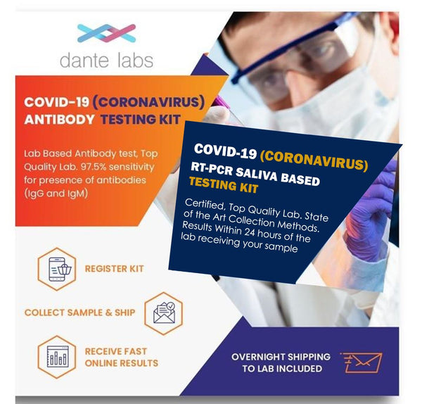 COVID-19 (Coronavirus) Antibody & Infection RT-PCR Saliva Based Test - Bundle - Dante Labs