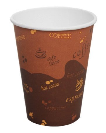 "1000 Take-Out ""Coffee"" Paper Coffee Cups - 8, 12, 16, and 20 Oz."