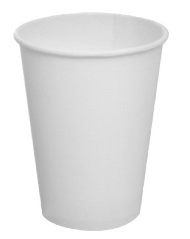 1000 Take-Out White Paper Coffee Cups - 8, 12, 16, and 20 Oz.