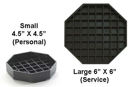 "Drip Trays for Service (6"") or Your Desktop (4.5"")"