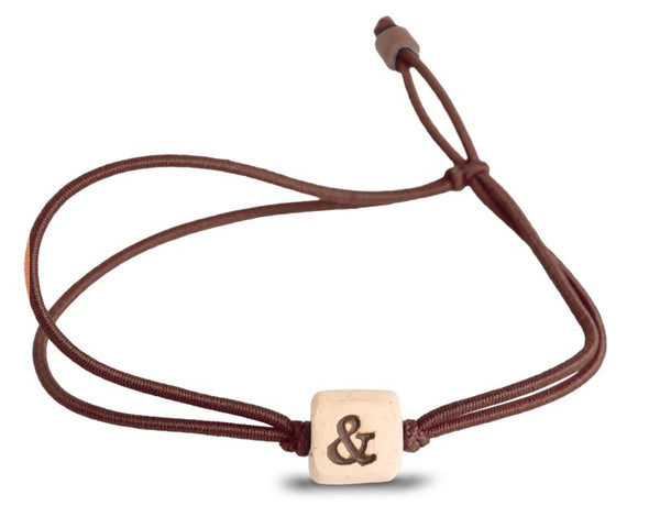 web band bead ampersand product brown
