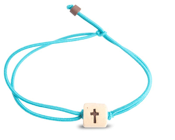 web band bead cross product turquoise