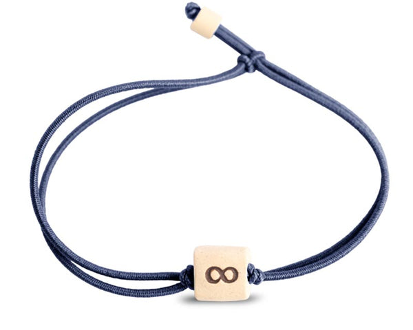 web band bead inifinity product navy blue