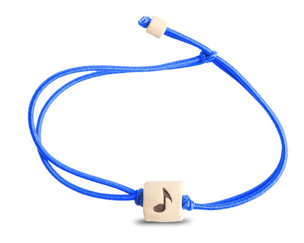 web band bead music note product blue
