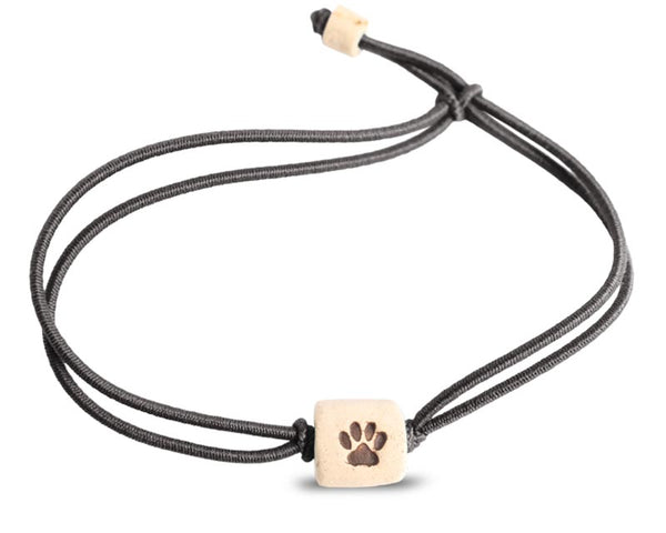 web band bead pawprint product black