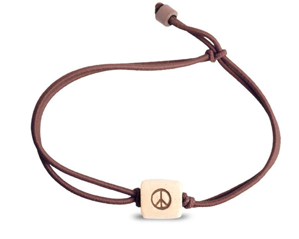 web band bead peace product brown