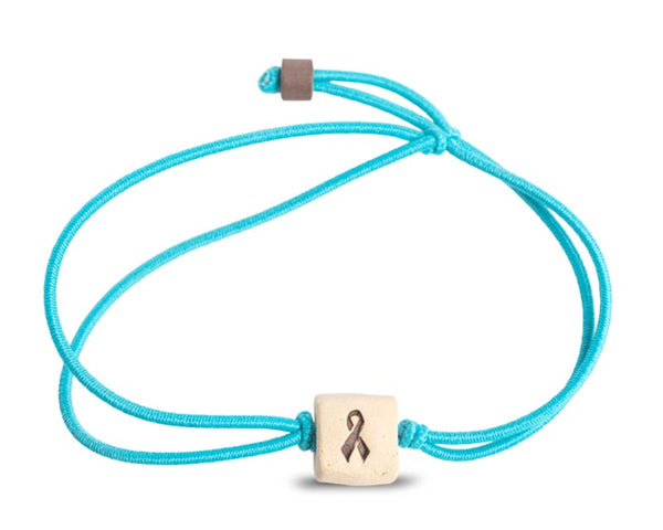web band bead ribbon product turquoise