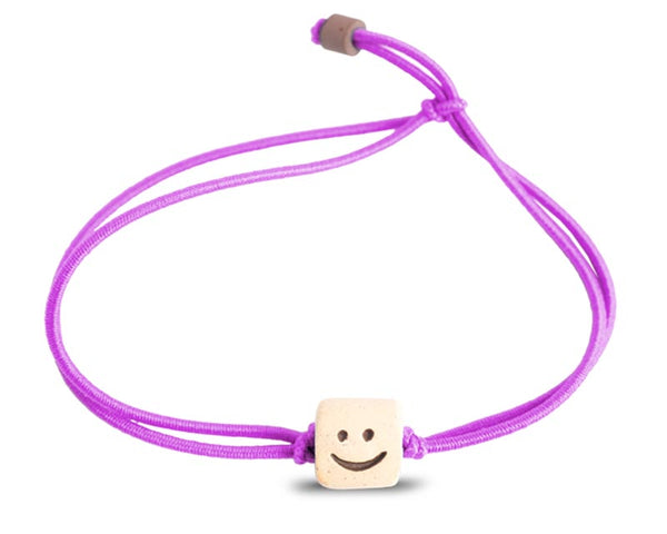 web band bead smile product purple