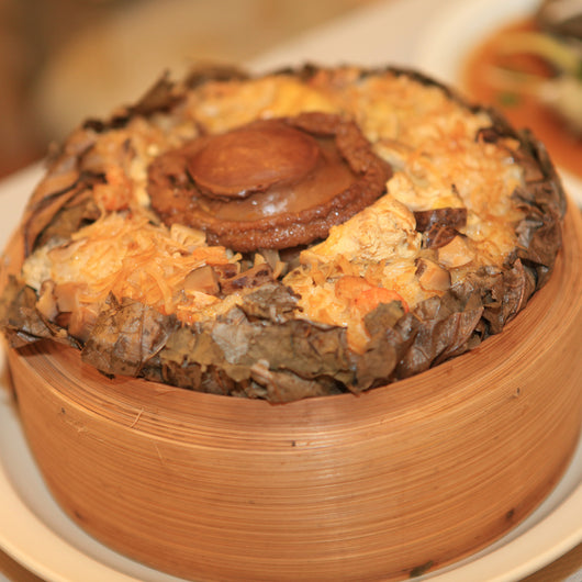 Lotus Leaf Rice with Abalone and Dried Scallop 荷鮑飯