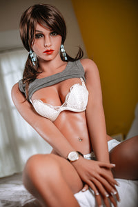AMELIA: 5ft 2in (158cm) Real Love Doll. In Stock - Brown skin