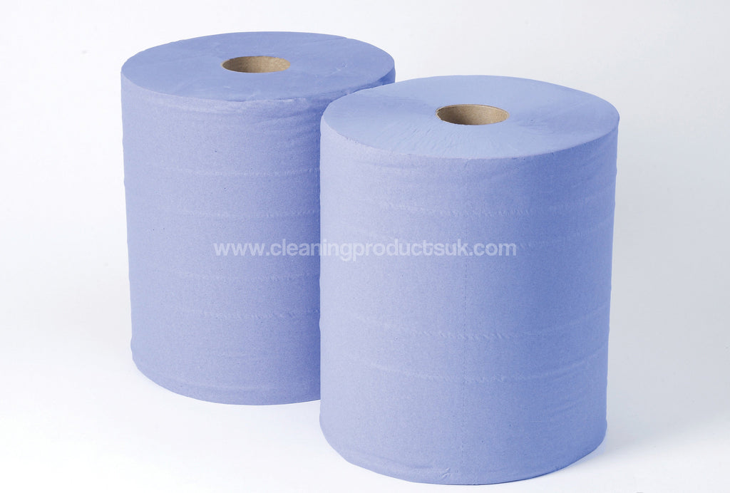 2 Ply Blue Industrial Rolls-Cleaning Products UK-Cleaning Products UK