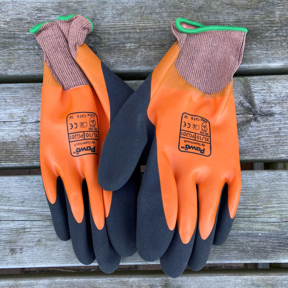 PG201 Orange Fully Coated Foam Cut 1 Gloves Xlarge