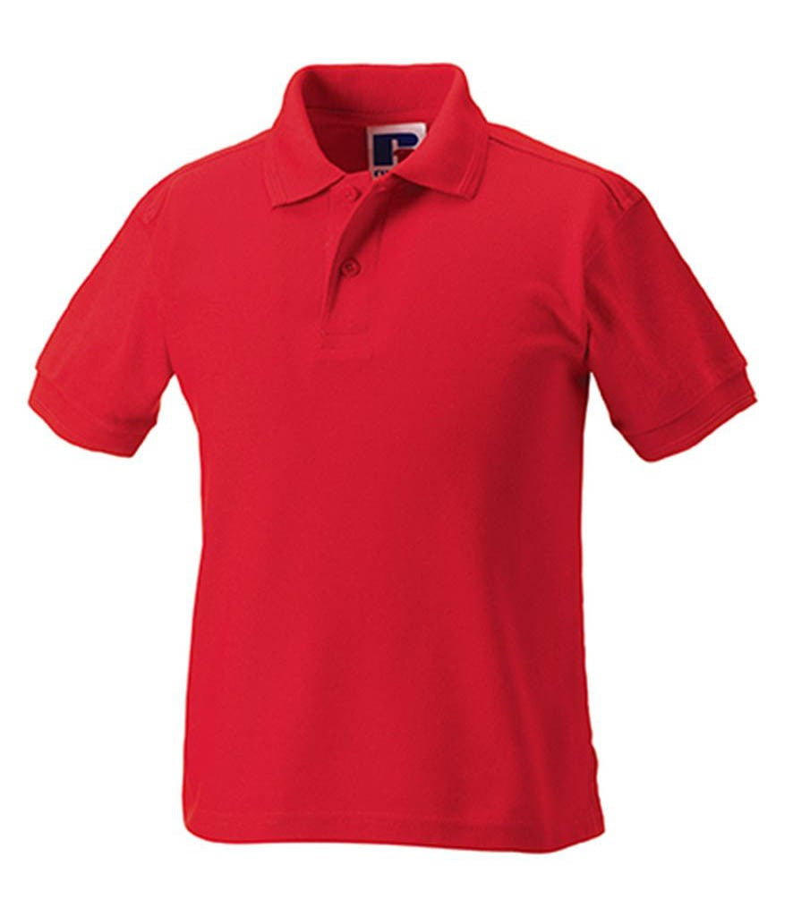 599B 5-6yr Red Childrens Polo Shirt