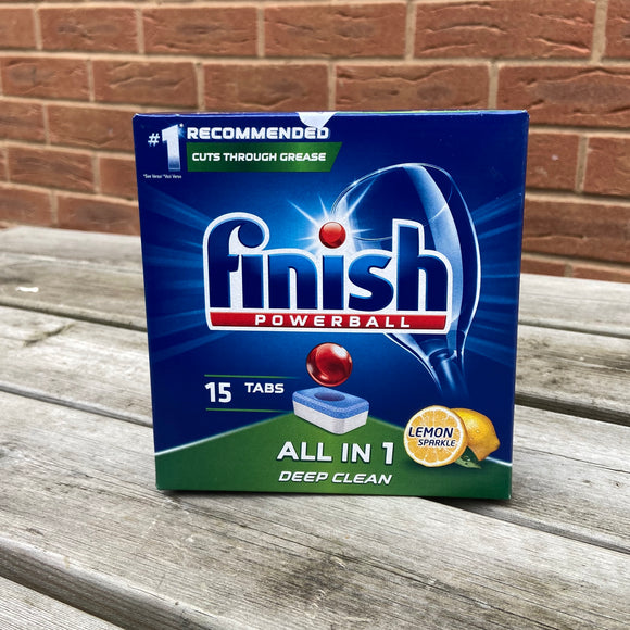 Finish Powerball All in 1 Dishwasher Tablets PK 15