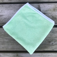 Green Microfibre Towel with White Trim
