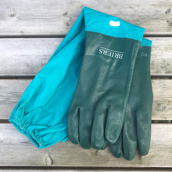 Gloves, long arm - Drain - Briers - Green