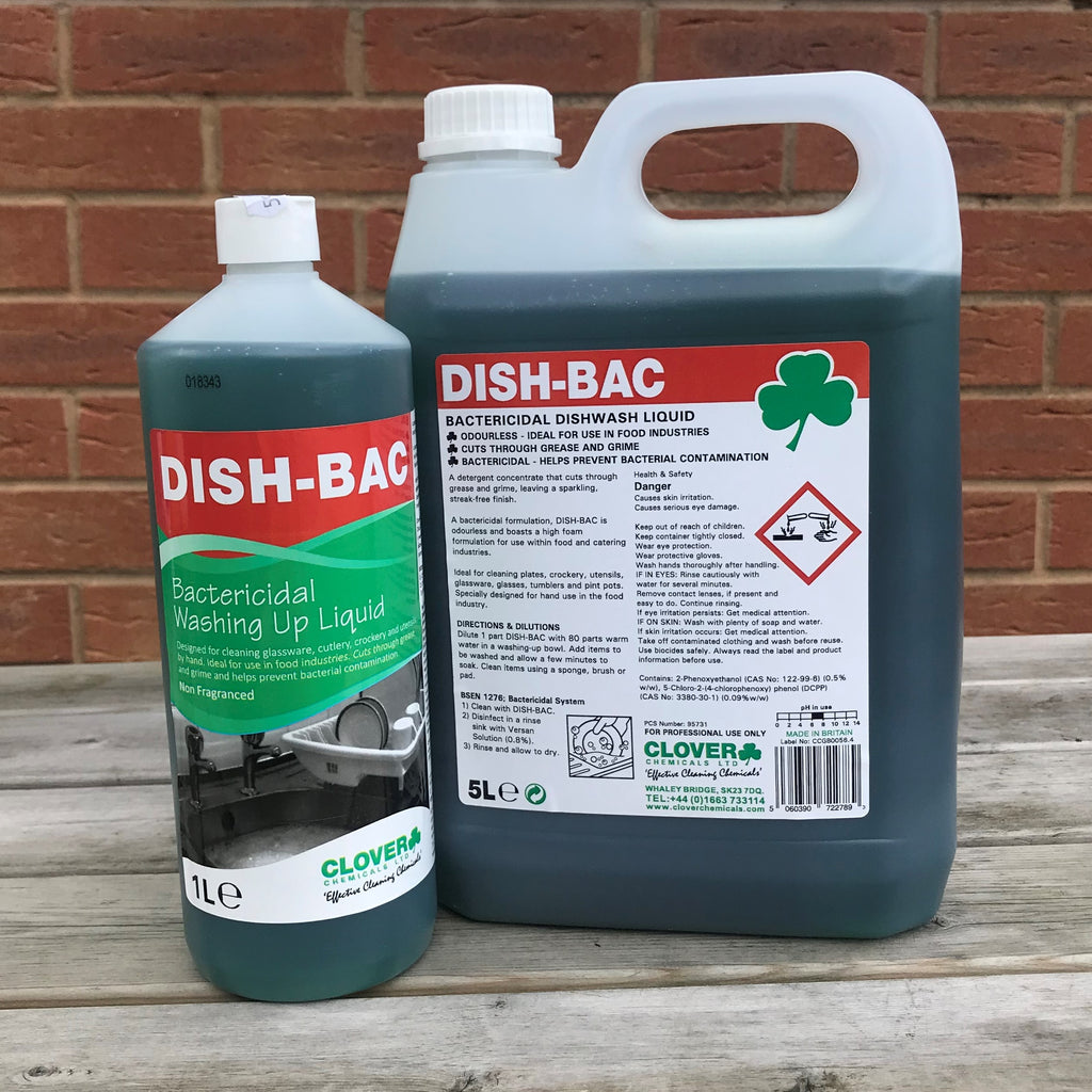 Dish-Bac Bactericidal Washing Up Liquid 5ltr