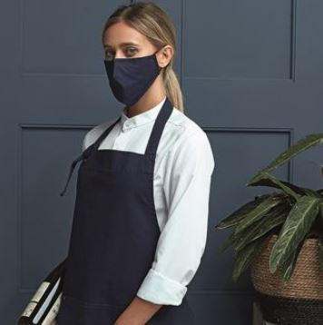 Navy Face Mask - 3 layer fabric mask