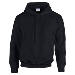 GD057 Heavy Blend Hoodie - Black - Large