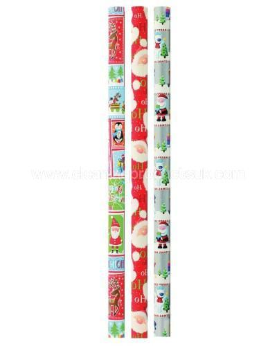 "Wrapping Paper x 1 = 3m - ""Festive Bears"" Design-Cleaning Products UK-Cleaning Products UK"