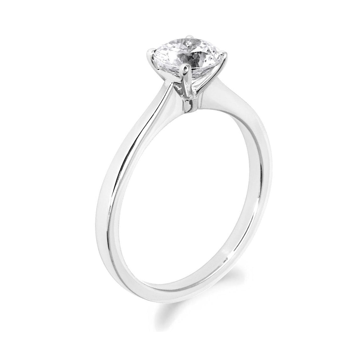 4 Claw Brilliant Cut 18ct White Gold Solitaire
