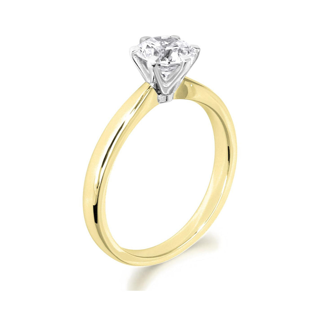 6 Claw Classic Brilliant Cut 18ct Yellow Gold Solitiare