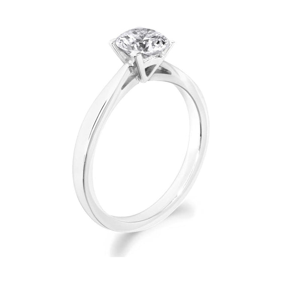 4 Claw Elegant Brilliant Cut 18ct White Gold Solitiare