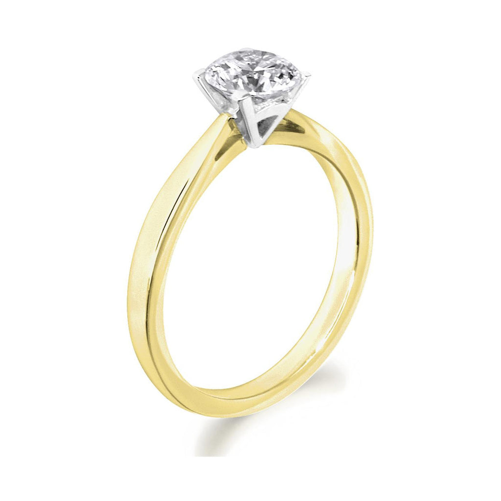 4 Claw Elegant Brilliant Cut 18ct Yellow Gold Solitiare