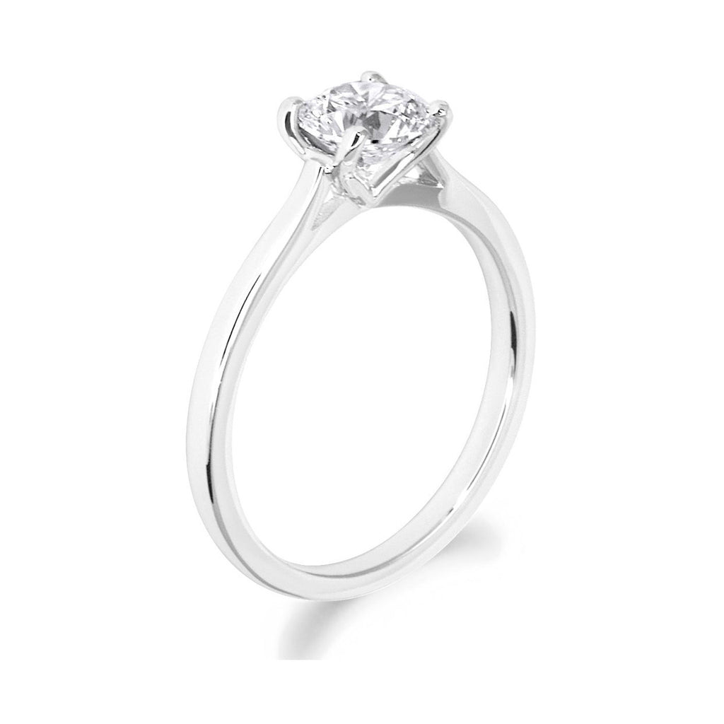 4 Claw Love Heart Setting 18ct White Gold Solitiare
