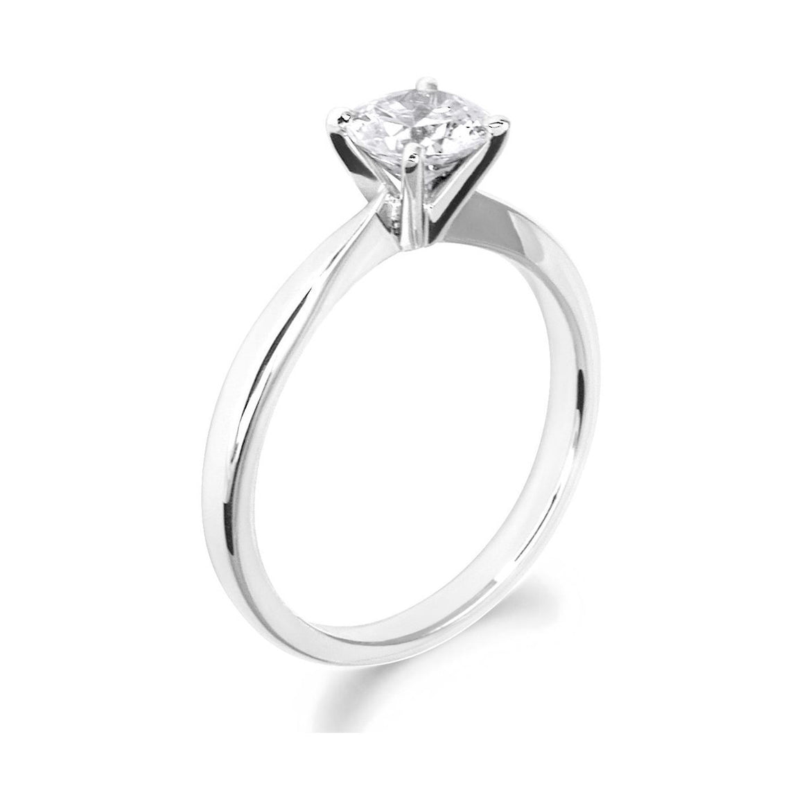 4 Claw Classic Brilliant Cut 18ct White Gold Solitaire