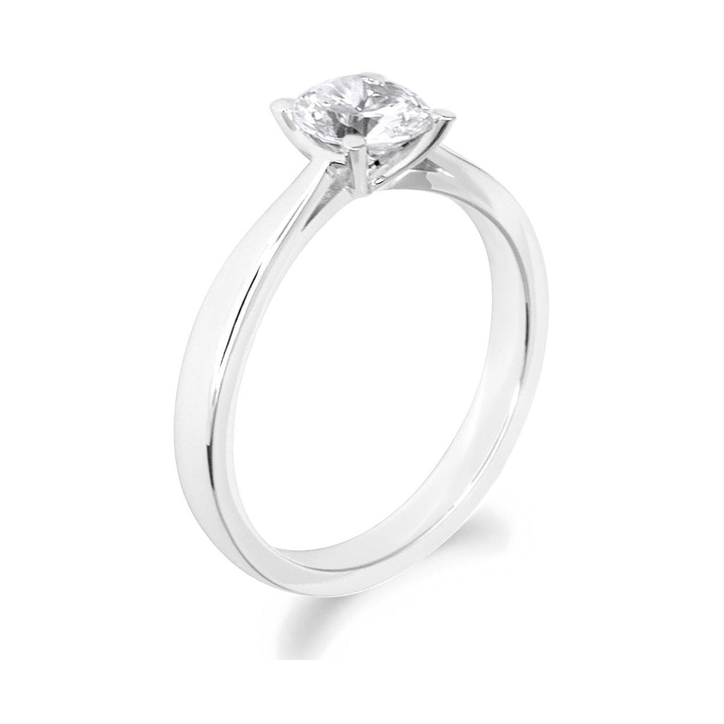 4 Claw Low Rise Brilliant Cut Platinum Solitaire